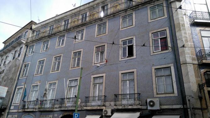 Maisons recouvertes d'azulejos