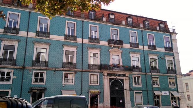 Maison recouverte d'azulejos